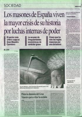 Prensa española  ( La Mañana  7 de junio de 2008 )