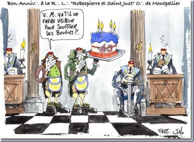 40 aniversario de la Logia Robespierre de Montpellier